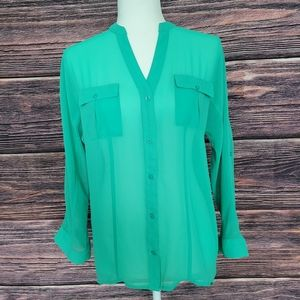 Candie's Sheer Button Down